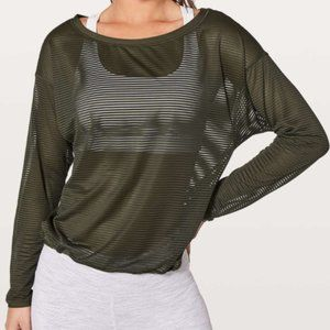 Lululemon Dark Olive Lean in Long Sleeve Top 10
